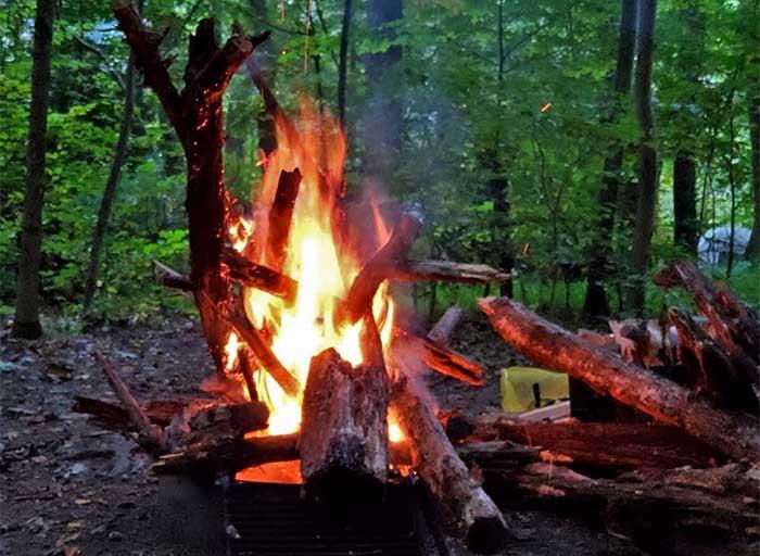 fire in fire ring