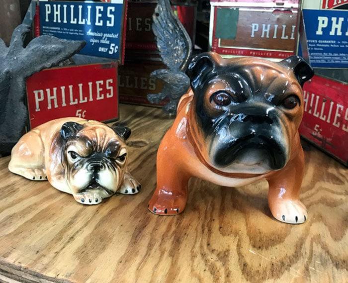 vintage ceramic dogs