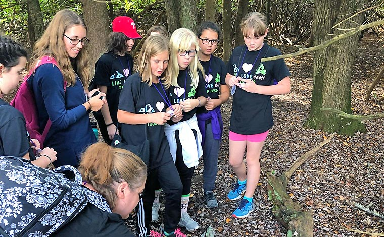 Camp-Mosey-Wood-Girl-Scout-Camp-discoverng-a-toad
