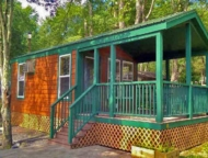 Delaware-Water-Gap-KOA-cabin-in-woods