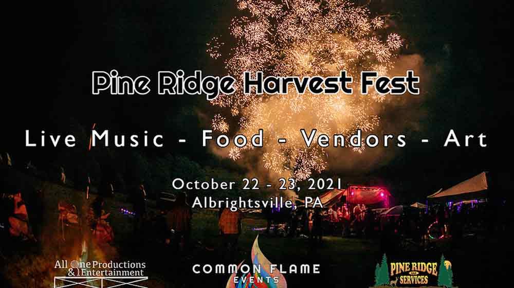 pine ridge harvest fest poster