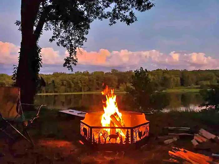 fire pit on the river