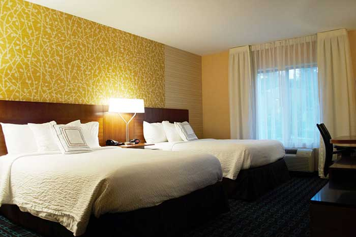 Fairfield-Inn-&-Suites-Stroudsburg-double-bed-room