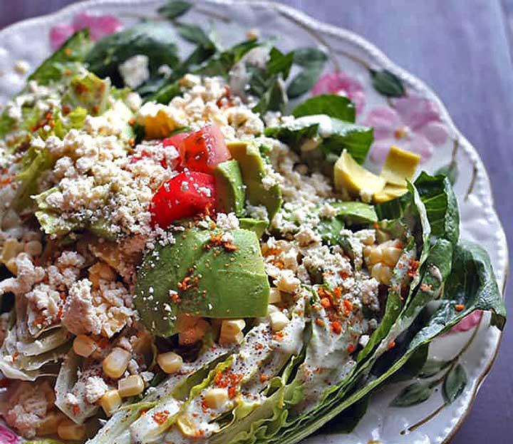 baby romaine wedge salad