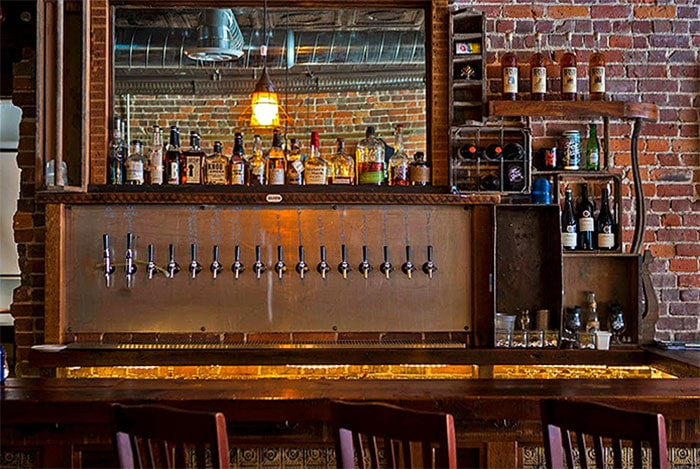drafts behind the bar