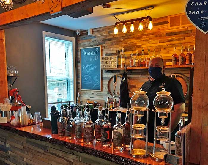 Holy Ghost Distillery bar