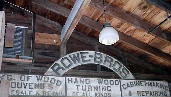 original rowe brothers hand painted sign