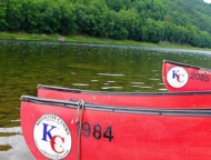 Kittatinny-Canoes-red-canoes-in-the-water-
