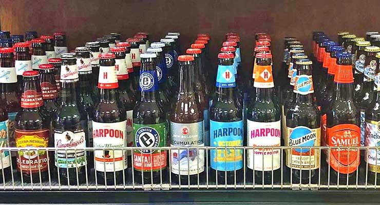 Lake-Region-IGA-&-Beer-Store-selection-of-beer in refrigerator case