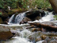 Lehigh-Gorge-State-Park-waterfall-and-rocks