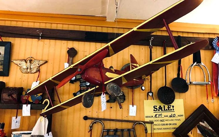 Pocono-Antique-Mall-Peddlers-Village-antique-toy-biplane