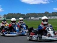 Pocono-ProKart-Racing-4-karts-on-track