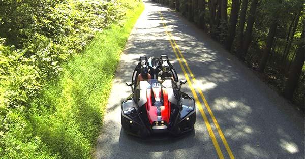 Pocono-Slingshot-Rentals-car-on-the-road