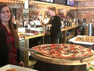 Ravyn and Robyn-Food-Wine-pizza-at-the-bar