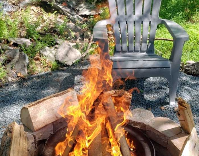 Secluded-Acres-Campground-beautiful-fire-ring-and-chair
