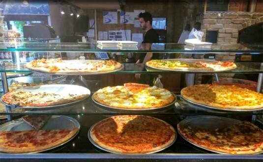 Spinelli's Brick Oven Pizzeria pizza counter