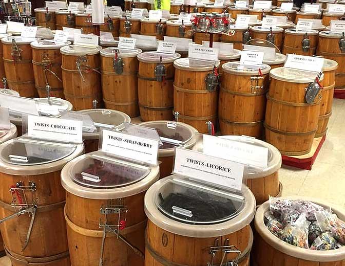 barrels of penny candy