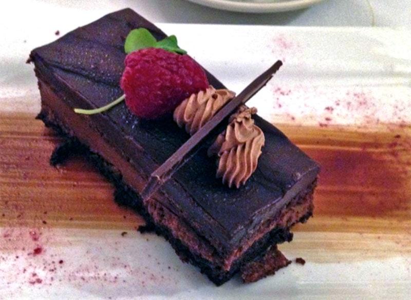 chocolate dessert with strawberry