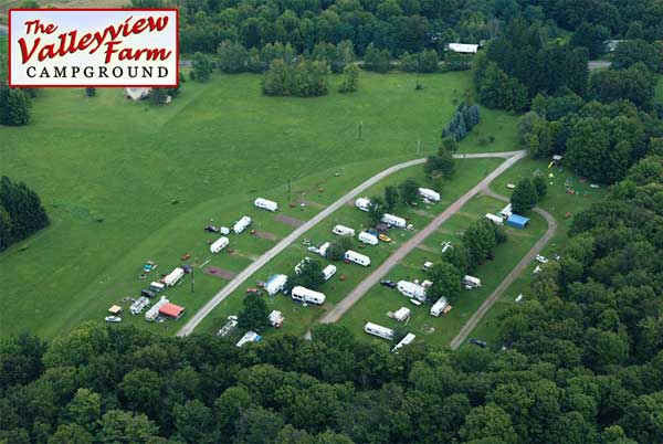 Valleyview-Farm-Campground-North-area with RVs and mobile homes