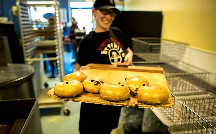 jessica baking bagels