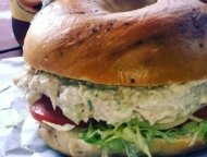bagel tuna sandwich