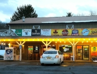 exterior of beer nuts store