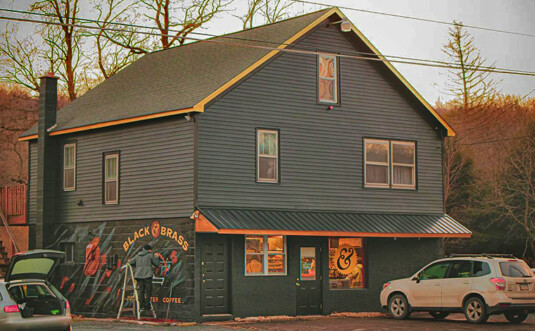 free standing coffee shop building