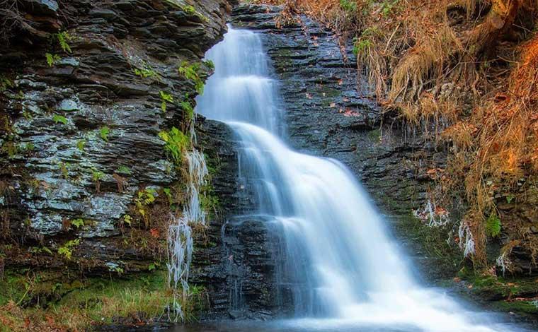 bushkill-falls-a-waterfall