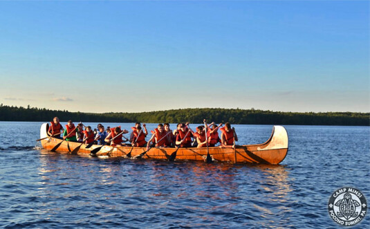 campers at camp minsi on stillwater lake