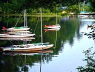 camp-shohola-for-boys-sunfish-boats on the lake