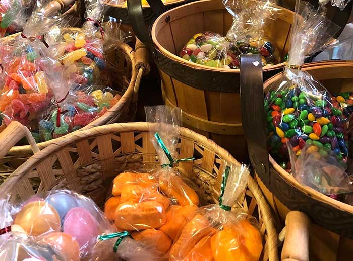 buckets of bulk candy
