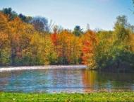 lake with autumn trees
