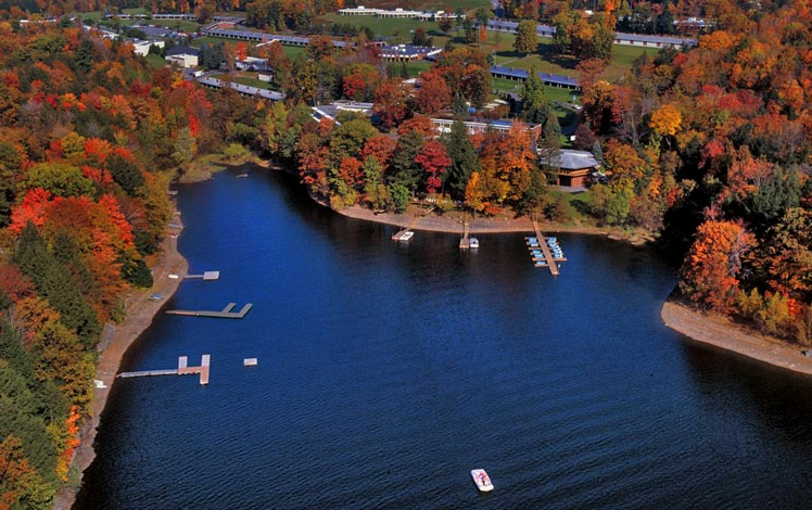 cove-haven-resort-aerial-view-lake-and-buildings