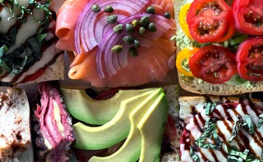 avocados and lox