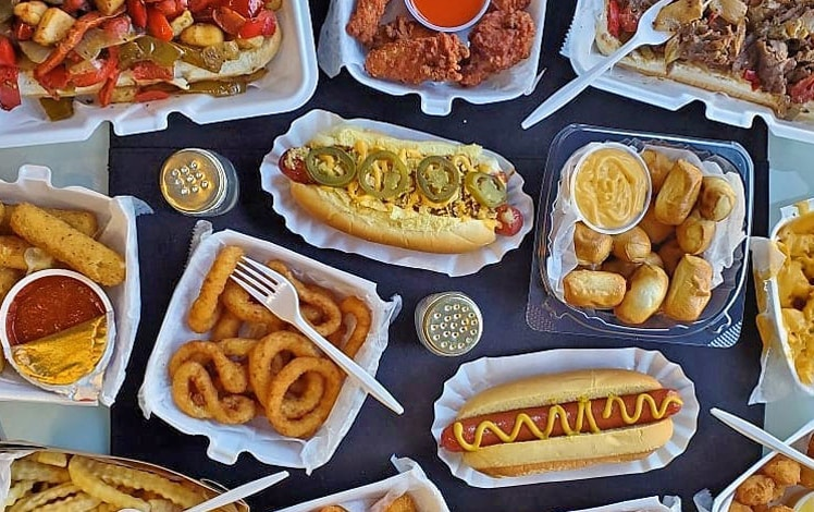 d.w. dawgs assortment dogs and fries