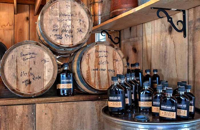 barrels of syrup
