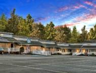 exterior motel in trees
