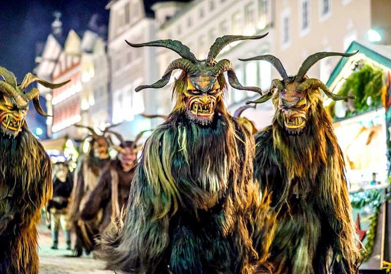 black forest krampusnacht festival costumes