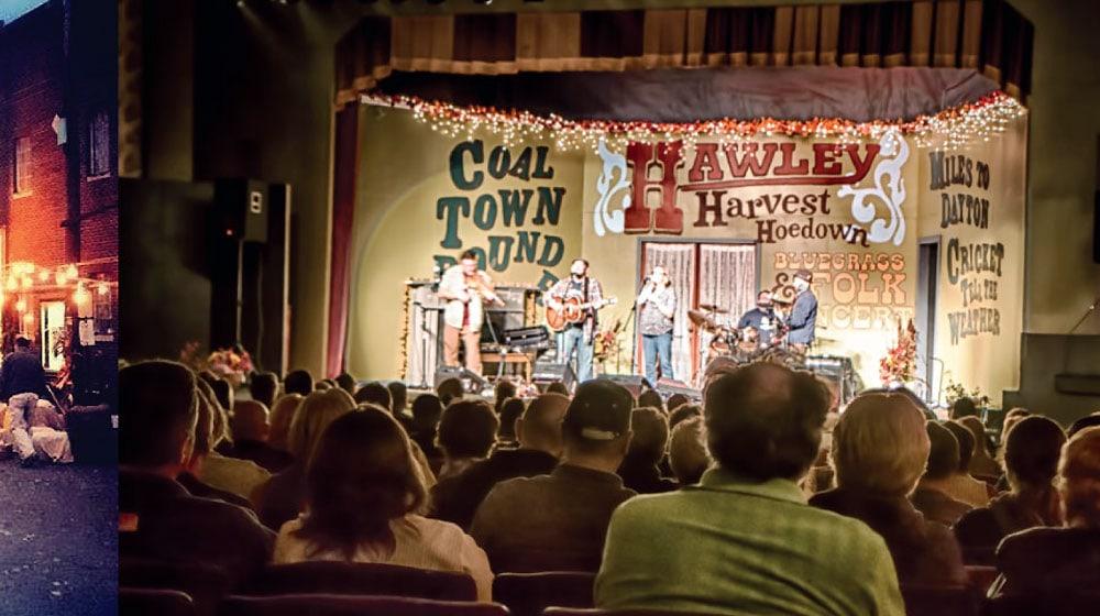 Hawley Harvest Hoedown Bluegrass & Folk Concert stage