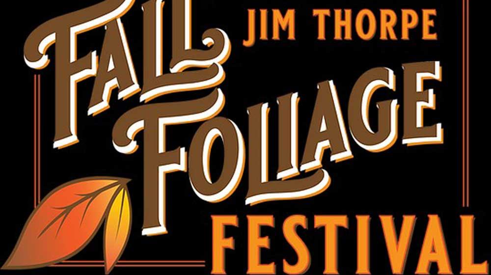jim thorpe fall foliage festival poster