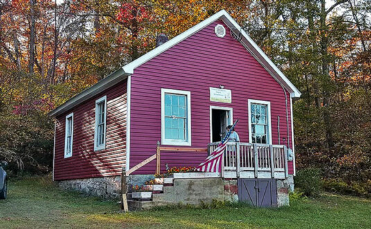 exterior 1850s schoolhouse