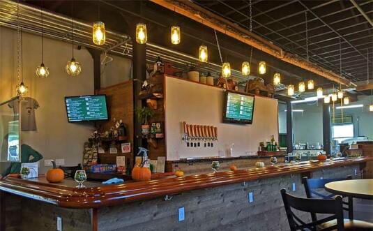 main bar with lanterns