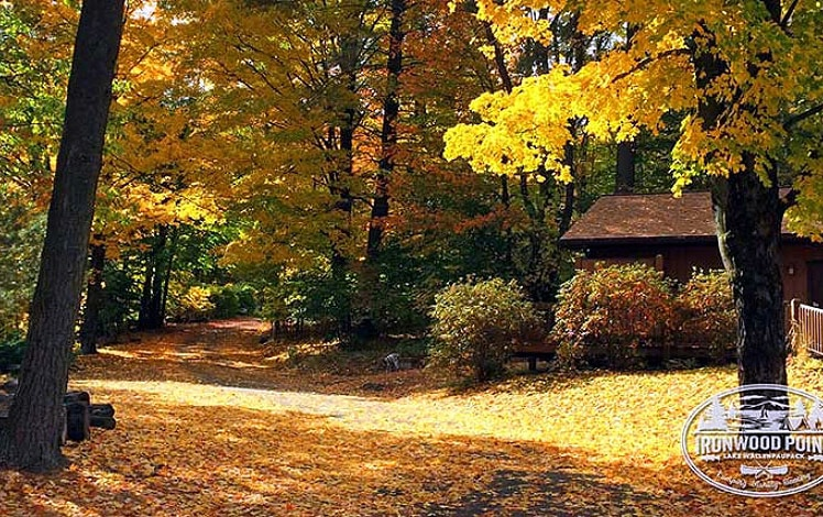 ironwood-point-campground-and-marina in the fall