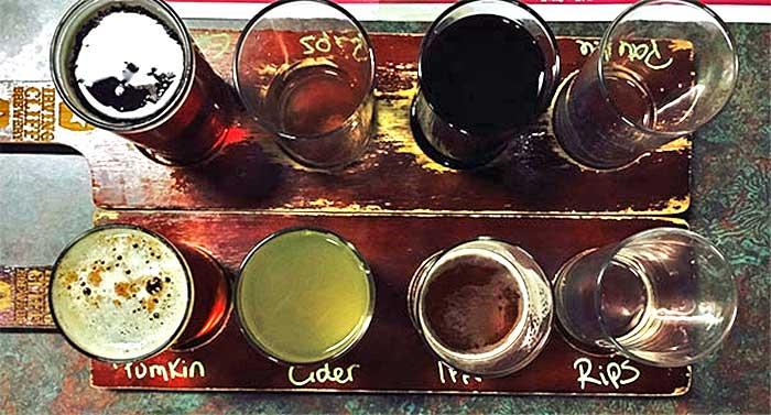 beer flight of 8 beers