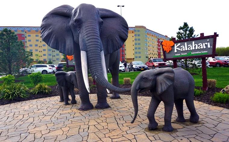 kalahari-water-park-resort-elephants-out-front