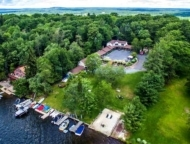 lake harmony inn aerial view of inn over lake harmony