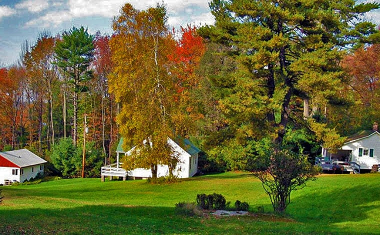 loch-highlands-cottages-and-trees