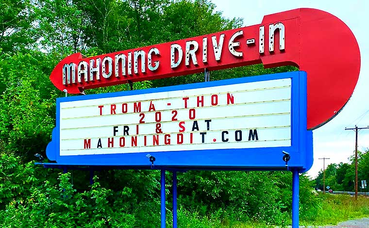 drive-in road sign