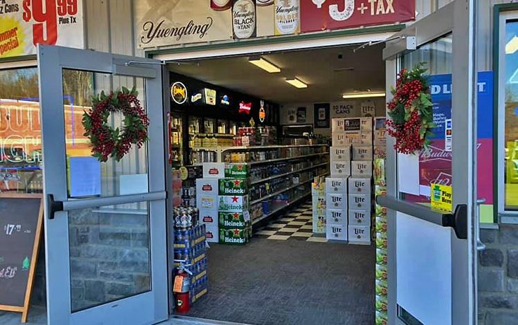 masons cold beer front door