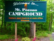 mount-pocono-Campground-Sign-at-entrance